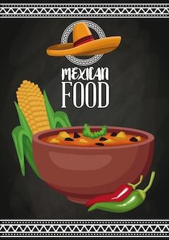 Mexikanische lebensmittelbroschüre