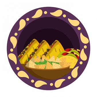 Mexikanische lebensmittelgastronomie