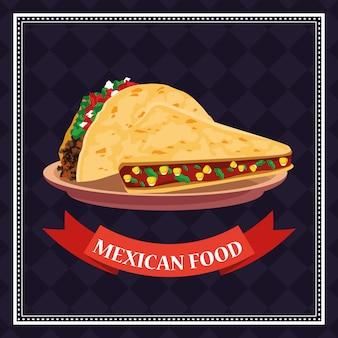 Mexikanische lebensmittelkarte