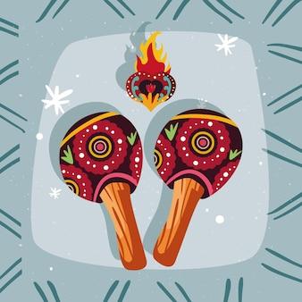 Mexikanische maracas-ikone