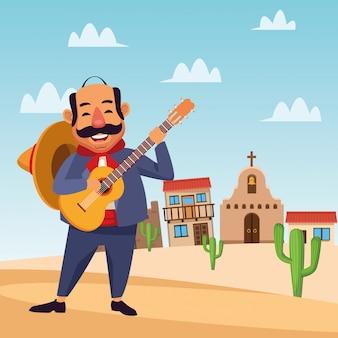 Mexikanische mariachi-cartoons