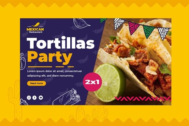 Mexikanische nahrungsmittelfahnenschablone
