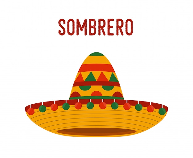 Mexikanische nationale kopfbedeckung - sombrero, weidenhut