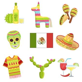 Mexikanische nationale symbole gesetzt