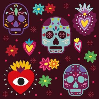 Mexikanische schädel