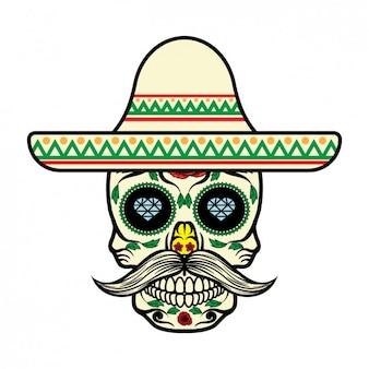 Mexikanische schädelentwurf