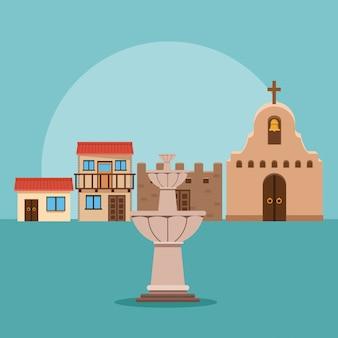 Mexikanische stadtlandschaft