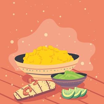 Mexikanische tacos und zutaten