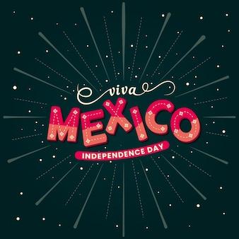 Mexikanische unabhängigkeitstag schriftzug