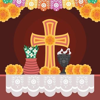 Mexikanischer altartag der toten