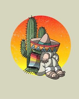 Mexikanischer betrunkener kaktus