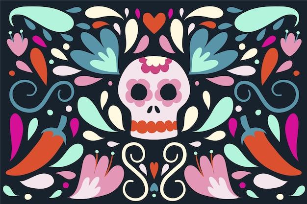 Mexikanischer hintergrund des bunten entwurfs