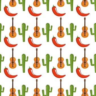 Mexikanischer kulturmusterhintergrund