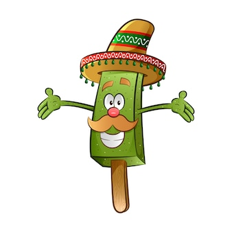 Mexikanischer paletten-charakter