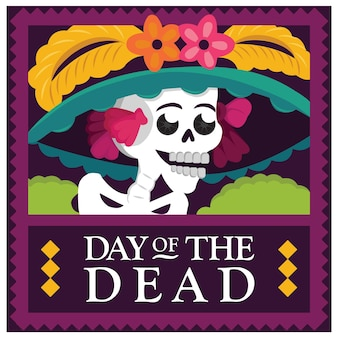 Mexikanischer tag der toten catrina