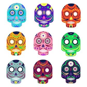 Mexikanischer tag der toten konzeptvektorillustration