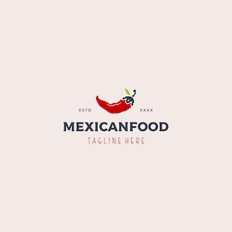 Mexikanisches essen logo vorlage
