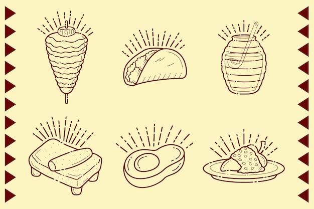 Mexikanisches essen mit tortilla und burritos