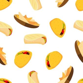 Mexikanisches essen muster
