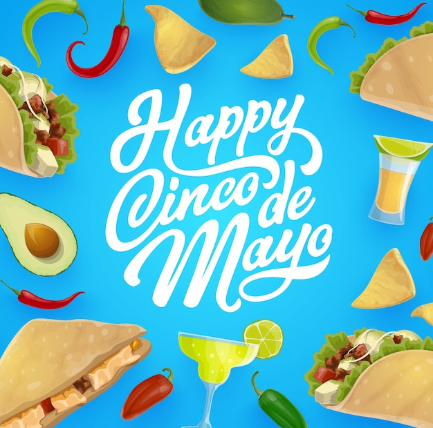 Mexikanisches essen und trinken. cinco de mayo fiesta party