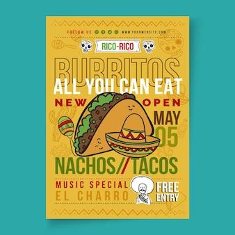 Mexikanisches essensplakat