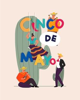 Mexikanisches feiertagsplakat cinco de mayo