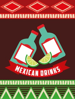 Mexikanisches getränkedesign