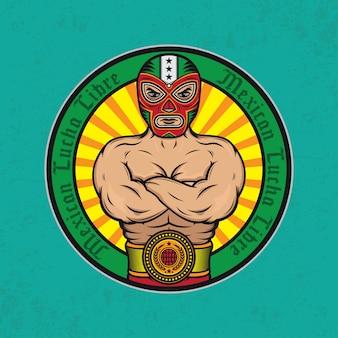 Mexikanisches lucha libre design-poster