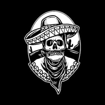 Mexikanisches schädel-logo