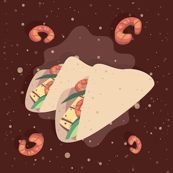 Mexikanisches tacos-essen