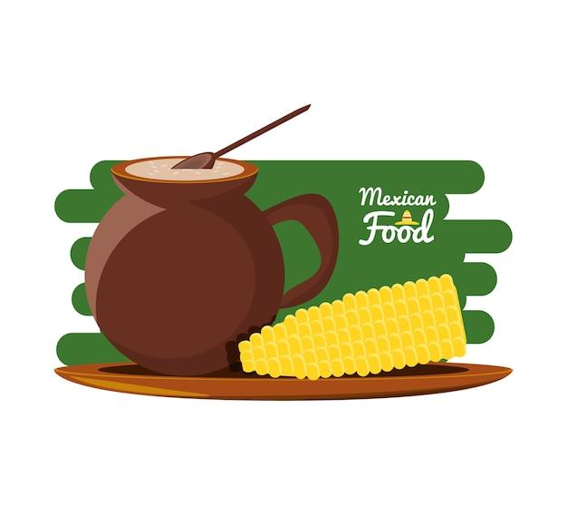 Mexikanisches traditionelles lebensmittel mit mais