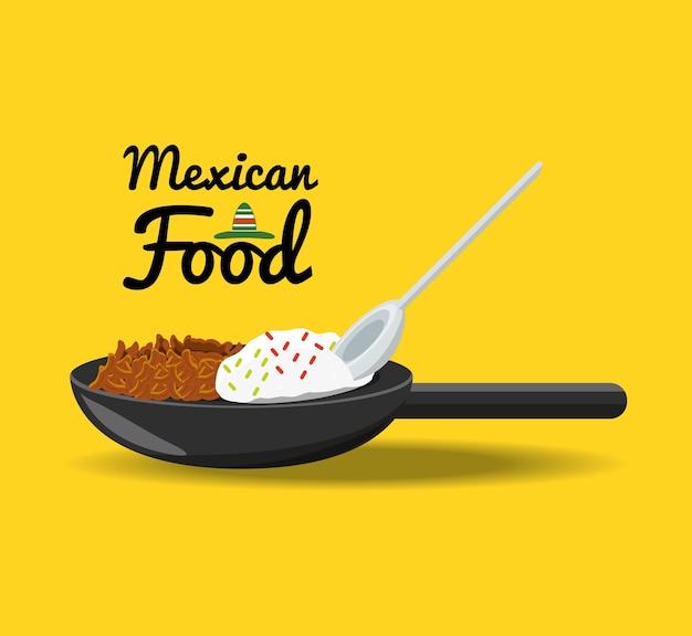 Mexikanisches traditionelles lebensmittelpaprika mit fleisch
