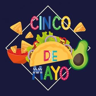 Mexiko cinco de mayo-karte