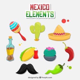 Mexiko-elemente packen