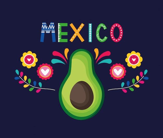 Mexiko-emblem cartoons-karte