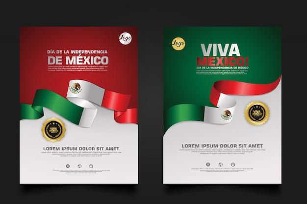 Mexiko glückliche unabhängigkeitstagschablone.