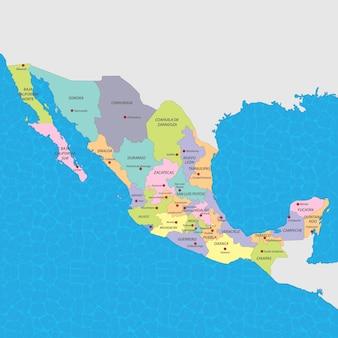 Mexiko karte vektor