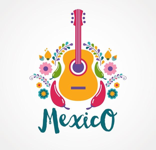 Mexiko konzeptabzeichen