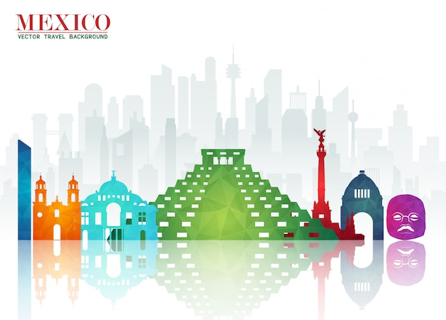 Mexiko landmark global travel and journey papier