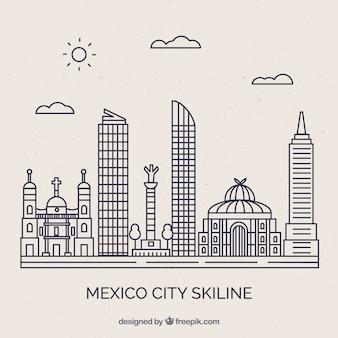 Mexiko skyline hintergrund