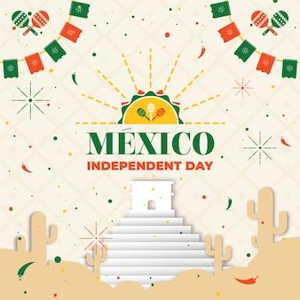Mexiko unabhängigkeitstag konzept