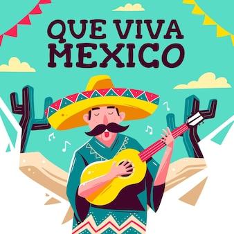 Mexiko unabhängigkeitstag zeichnung