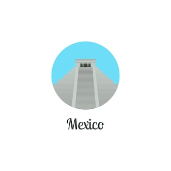 Mexiko wahrzeichen isoliert runde symbol