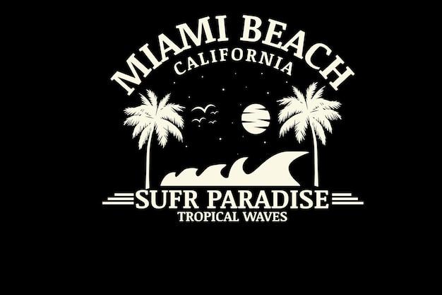 Miami beach kalifornien surfparadies farbe creme