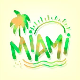 Miami stadt schriftzug