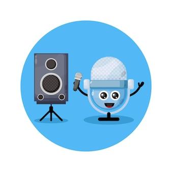 Mic karaoke süßes charakterlogo