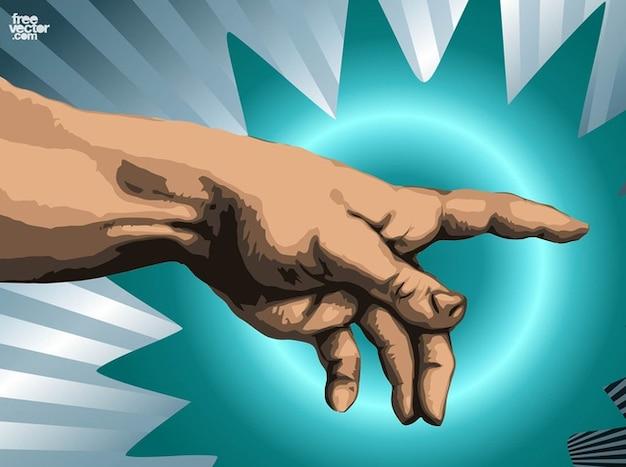 Michelangelo hand of god