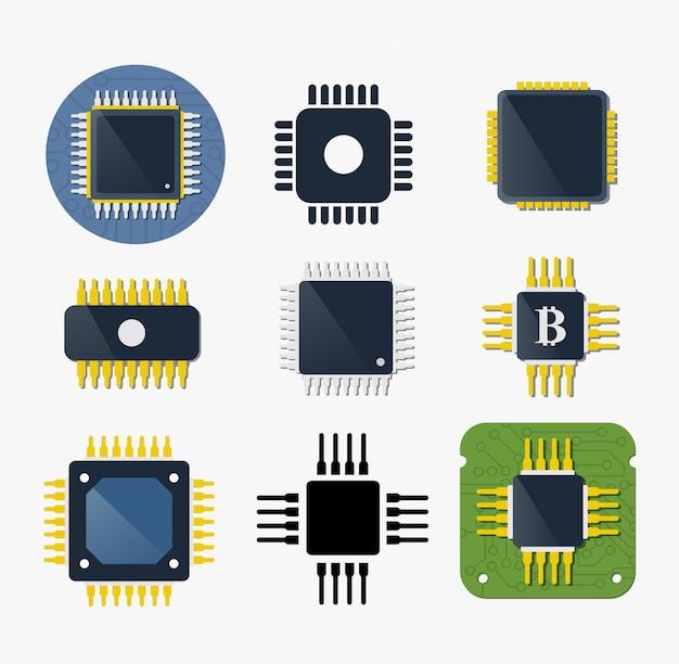 Microchip-chip-schaltungskomponente