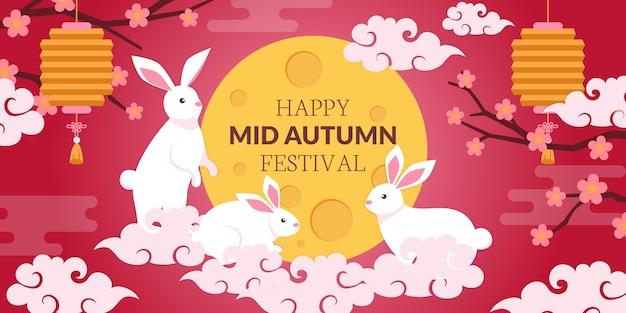 Mid-autumn festival banner vorlage