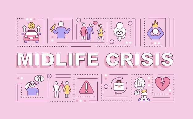 Midlife-crisis-wortkonzepte-banner